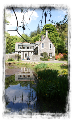 The Coach House with its own garden pond